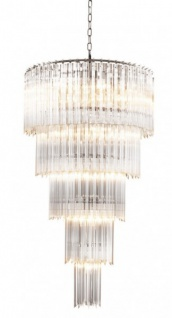 Casa Padrino Luxus Hängeleuchter Glas Kristall - Barock Restaurant - Hotel Lampe Leuchte - Hängeleuchte Art Deco