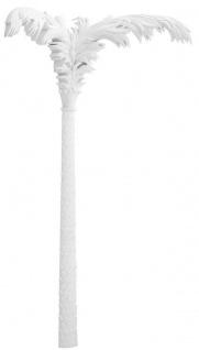 Casa Padrino Luxus Wanddeko Palme Mattweiß 206 x H. 260 cm - Kunstharz Palme - Luxus Deko Accessoires