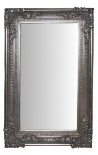 Casa Padrino Barock Wandspiegel Silber Antik Look - Edel & Prunkvoll