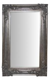 Casa Padrino Barock Wandspiegel Silber Antik-Look Höhe 153 cm, Breite 94 cm - Edel & Prunkvoll