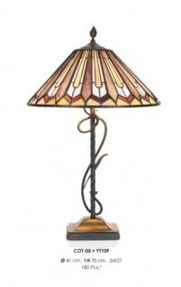 Handgefertigte Tiffany Hockerleuchte Tischleuchte Höhe 70 cm, Durchmesser 41 cm - Leuchte Lampe - Vorschau