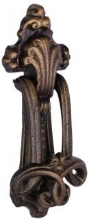 Casa Padrino Barock Gusseisen Türklopfer Bronze H. 22 cm - Deko Accessoires