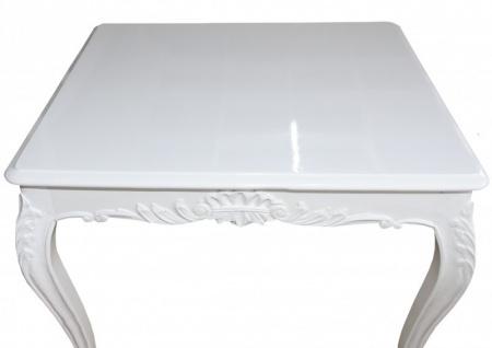 Casa Padrino Barock Esstisch Weiss 100 cm x 100 cm- Esszimmer Tisch - Antik Stil Möbel - Vorschau 3