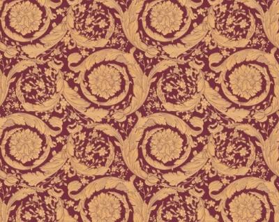 Versace Designer Barock Vliestapete IV 36692-7 - Gold / Bordeaux Rot - Design Tapete - Hochwertige Qualität