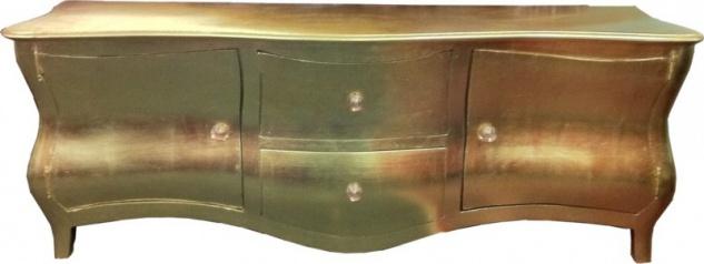 Lange Barock Kommode / Fernsehschrank / Sideboard Gold 170cm