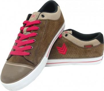 Vox Skateboard Schuhe Avenger Chocolate/Red/White Hohe Qualität