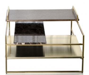 Casa Padrino Luxus Couchtisch Gold 60 x 60 x H. 36, 5 cm - Designer Wohnzimmertisch - Vorschau 2