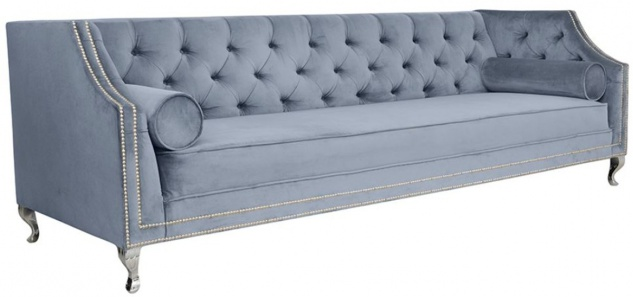 Casa Padrino Luxus Chesterfield Samt Sofa mit Kissen 225 x 84 x H. 76, 5 cm - Verschiedene Farben - Chesterfield Wohnzimmer Möbel - Vorschau 2