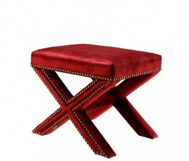 Casa Padrino Luxus Hocker Rot 51 x 37 x H. 42 cm - Luxus Kollektion