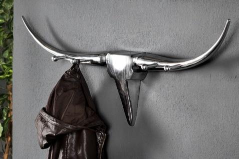 Designer Wandhalterung Garderobe Bull Garderoben Halter Garderobe Shine Deco Aluminium - Wand Garderobe mit 4 Haken