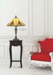 Handgefertigte Tiffany Hockerleuchte von Casa Padrino Höhe 60 cm, Durchmesser 40 cm - Leuchte Lampe - wunderschöne Tiffany Tischleuchte