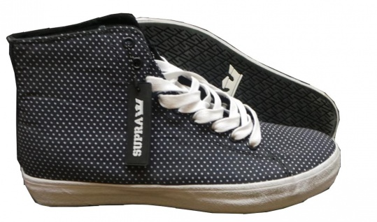 SUPRA Skateboard Schuhe Thunder High Black/White Dots