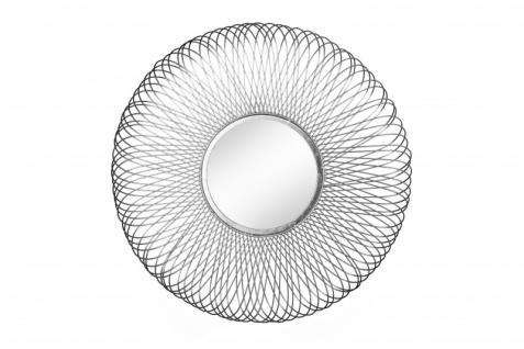 Casa Padrino Designer Wandspiegel Infinity Spiegel -silberfarbig-