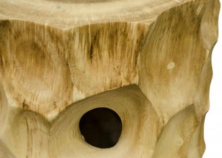 Casa Padrino Luxus Wohnzimmer Beistelltisch / Hocker Naturfarben - Luxus Qualität - Vorschau 4
