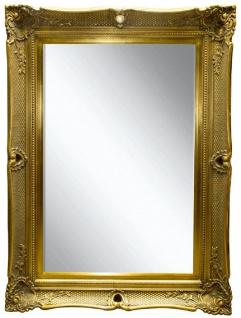 Casa Padrino Barock Spiegel Gold 91 x H. 120 cm - Prunkvoller Wandspiegel mit Holzrahmen und wunderschönen Verzierungen
