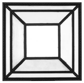 Casa Padrino Luxus Mahagoni Spiegel Schwarz 100 x H. 100 cm - Designer Wandspiegel