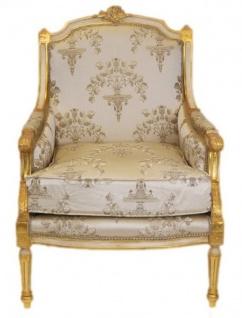 Casa Padrino Barock Lounge Thron Sessel Empire 70 x 70 x H. 100 cm - Luxus Qualität