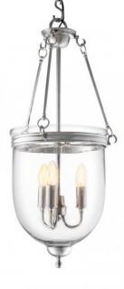 Casa Padrino Luxus Laterne - Luxus Nickel Hängeleuchte Durchmesser 32 x H 70 cm
