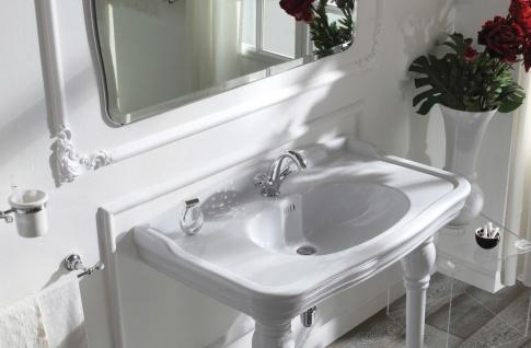 Luxus Waschtischarmatur mit Swarovski Kristallglas Silber 13, 5 x H. 16, 5 cm - Luxus Bad Zubehör Made in Italy - Vorschau 4