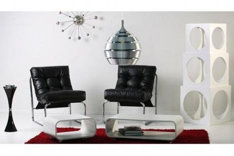 Designer Salon Stuhl Schwarz Lederoptik, sehr komfortabler Sitz, moderner Wohnzimmerstuhl - Vorschau 2