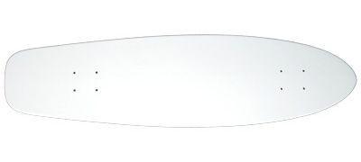 Blank Short Cruiser Longboard Deck white