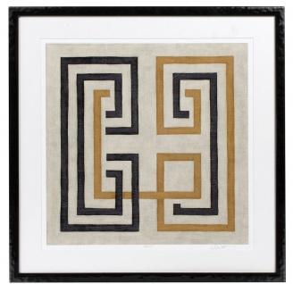 Casa Padrino Designer Bilder Set Mehrfarbig / Schwarz 69 x H. 69 cm - Dekorative Wandbilder mit Holzrahmen - Designermöbel - Vorschau 3