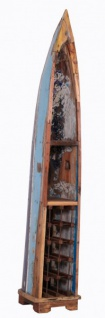 Casa Padrino Vintage Weinregal Schrank Boot - 100% recyceltes Altholz