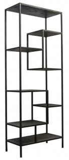 Casa Padrino Designer Regalschrank Schwarz 80 x 40 x H. 210 cm - Luxus Qualität