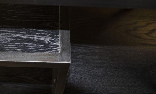 Casa Padrino Designer Regalschrank Schwarz 160 x 40 x H. 160 cm - Luxus Wohnzimmerschrank - Vorschau 4