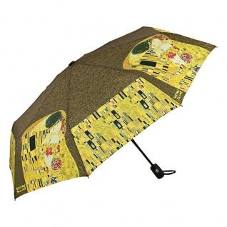 """MySchirm Designer Taschenschirm Gustav Klimt: """" Der Kuss"""" - Eleganter Regenschirm - Luxus Design"""