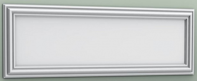 Casa Padrino Wandpaneel Weiß 150 x 3, 2 x H. 50 cm - Barock & Jugendstil Deko Accessoires