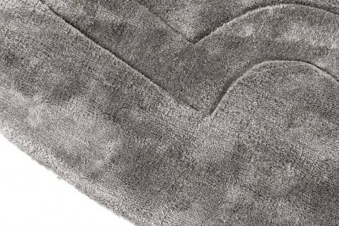 Casa Padrino Luxus Viskose Teppich Grau Ø 280 cm - Handgewebter runder Wohnzimmer Teppich - Luxus Qualität - Vorschau 3