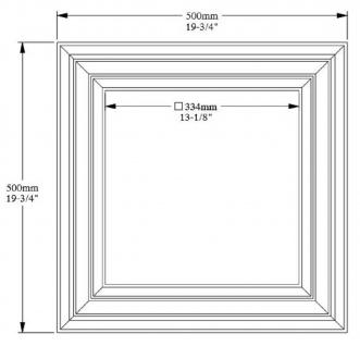 Casa Padrino Wandpaneel / Deckenpaneel Weiß 50 x 3, 2 x H. 50 cm - Barock & Jugendstil Deko Accessoires - Vorschau 4