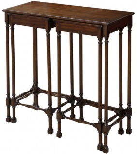 Casa Padrino Luxus Mahagoni Beistelltisch Set Dunkelbraun 67 x 28 x H. 70 cm - Luxus Möbel - Vorschau 3