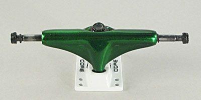 Core Skateboard Achsen Set 5.0 grün metallic/weiß (2 Achsen)