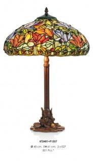 Tiffany Hockerleuchte Höhe 61 cm, Durchmesser 40 cm - Leuchte Lampe