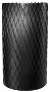 Casa Padrino Glas Teelichthalter Schwarz Ø 20 x H. 36 cm - Luxus Windlicht - Vorschau 2