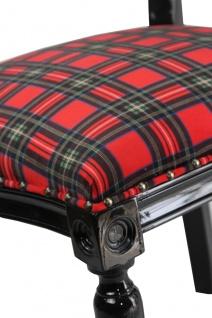 Casa Padrino Barock Luxus Esszimmer Stuhl ohne Armlehnen Schottland Karo / Schwarz Woman - Designer Stuhl - Limited Edition - Vorschau 2