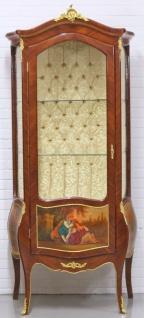 Casa Padrino Barock Vitrinenschrank Mahagonibraun / Gold 72 x 45 x H. 184 cm - Barockstil Wohnzimmer Vitrine