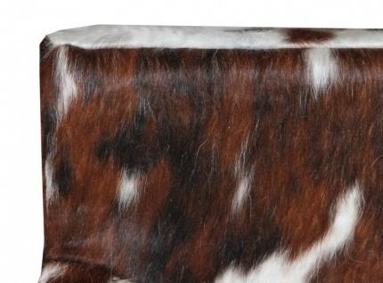 Casa Padrino Designer Esszimmer Stuhl mit Armlehnen ModEF 35 Kuhfell - Hotelmöbel - Buche - Echtes Fell - Vorschau 3