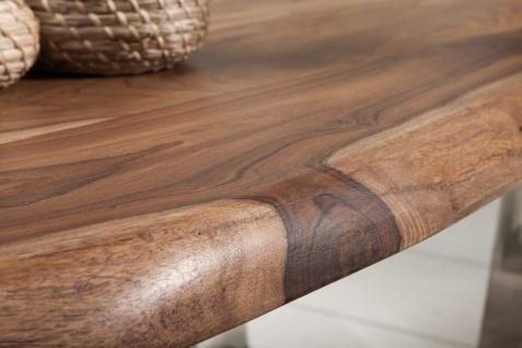 Casa Padrino Designer Massivholz Sheesham Couchtisch Natur Braun 110 x H. 40 cm - Salon Wohnzimmer Tisch - Vorschau 4