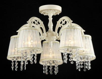 Casa Padrino Barock Kristall Decken Kronleuchter Cream Gold 62 x H 36 cm Antik Stil - Möbel Lüster Leuchter Hängeleuchte Hängelampe