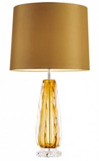 Casa Padrino Luxus Tischleuchte Gelb - Luxus Hotel Leuchte