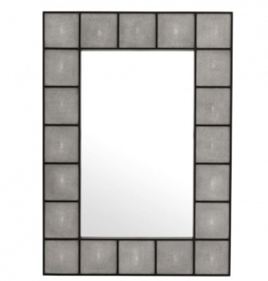 Casa Padrino Designer Luxus Mahagoni Wandspiegel 100 x H 140 cm - Luxus Qualität