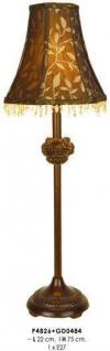 Barock Hockerleuchte mit nostalgischem Schirm, Höhe 75 cm, Durchmesser 22 cm Leuchte Lampe