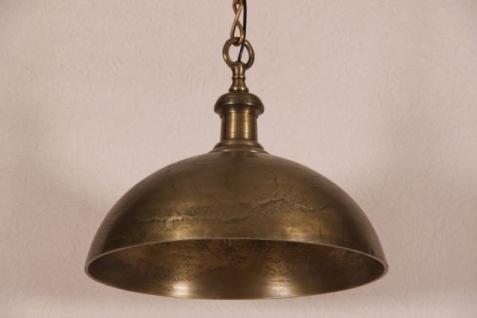 Hängeleuchte Deckenleuchte Antik Bronze Industrial Design 50cm Durchmesser - Industrie Lampe Leuchte