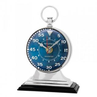 Casa Padrino Designer Luxus Tisch Uhr Marine - Eyecatcher Seefahrer Uhr