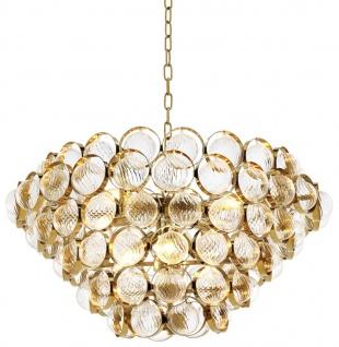 Casa Padrino Luxus Kronleuchter Gold Ø 72 x H. 40 cm - Limited Edition