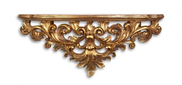 Casa Padrino Designer Barock Wandkonsole Antik Gold 46 x 11, 6 x H.18, 6 - Hotel Möbel