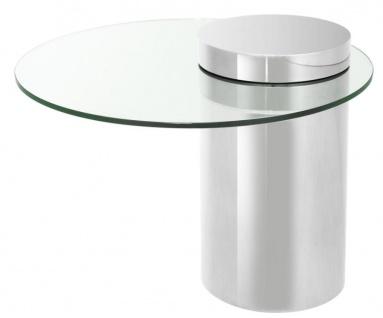 Casa Padrino Designer Beistelltisch Silber 65 x H. 51 cm - Luxus Kollektion